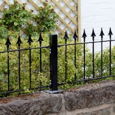 Grange 2ft High (485mm) Metpost Montford Spear Top Metal Railings