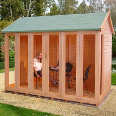 Shire Gold Blenheim Summerhouse - bi-fold doors closed