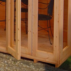 Shire Gold Blenheim Summerhouse - detail of bi-fold doors