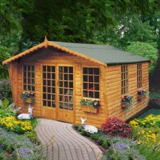 10 x 8 (2.99m x 2.39m) Shire Gold Beaulieu Summerhouse