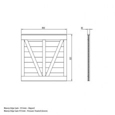Mercia 3ft High (915mm) Mercia Waney Edge (Lap) Gate