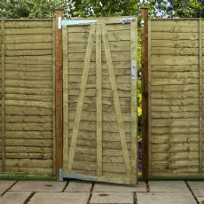 4ft High (1220mm) Mercia Waney Edge (Lap) Gate - Pressure Treated