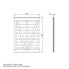 Mercia 4ft High (1220mm) Mercia Waney Edge (Lap) Gate - Pressure Treated