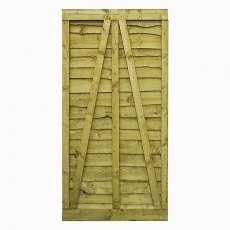 Mercia 6ft High (1829mm) Mercia Waney Edge (Lap) Gate - Pressure Treated