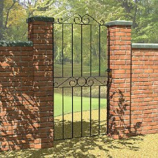 6 x 3 (1800mm x 810mm) Metpost Ironbridge Tall Gate extra wide