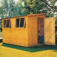 8 x 6 (2.39m x 1.79m) Shire Norfolk Professional Pent Shed
