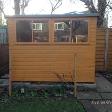 8x6 Shire Norfolk Professional Pent Shed - side elevation