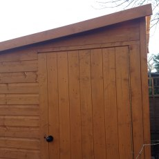 8x6 Shire Norfolk Professional Pent Shed - gable end with single door