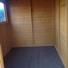 10x6 Shire Norfolk Professional Pent Shed - inside shed