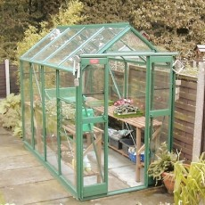 4'3' (1.30m) Wide Elite Compact Colour Greenhouse PACKAGE Range