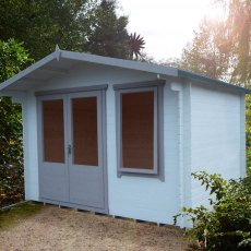 11G x 8 (3.29m x 2.39m) Shire Berryfield Log Cabin (19mm Logs)