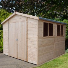 10 x 10 (2.98m x 2.98m) Shire Workspace Apex Garden Shed
