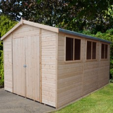 15 x 10 (4.47m x 2.98m) Shire Workspace Apex Garden Shed