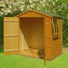 4 x 6 (1.19m x 1.79m) Shire Shiplap Apex Garden Shed (Double Doors)
