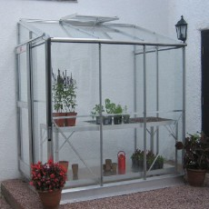 4'4' (1.30m) Wide Elite Windsor Aluminium Lean To Greenhouse Range
