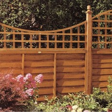 2ft High (0.57m) Grange Bow Top Presure Treated Trellis