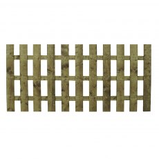 3ft High (915mm) Mercia Palisade Flat Top Fence Panels - Pressure Treated