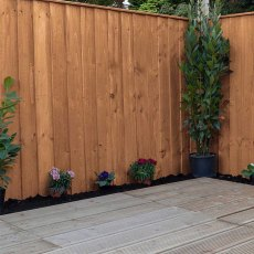 Vertical Feather Edge Flat Top Fencing - Pressure Treated