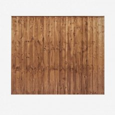Mercia 5ft High (1524mm) Mercia Vertical Feather Edge Flat Top Fence Panels - Pressure Treated