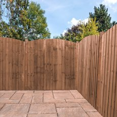 6ft High (1829mm) Mercia Vertical Feather Edge Domed Fence Panels - Pressure Treated