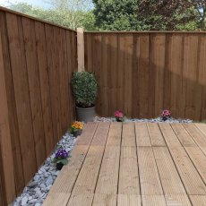 3ft High (915mm) Mercia Closeboard Vertical Hit and Miss Fence Panels - Pressure Treated