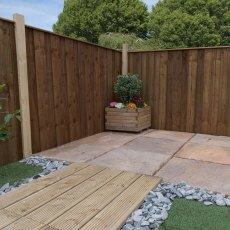 4ft High (1220mm) Mercia Closeboard Vertical Hit and Miss Fence Panels - Pressure Treated