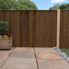 4ft High Mercia Closeboard Vertical Hit and Miss Fence Panels - Pressure Treated