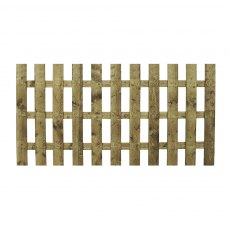 4ft High (1220mm) Mercia Palisade Flat Top Fence Panels - Pressure Treated