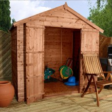 5 x 7 (1.54m x 2.22m) Mercia Shiplap Windowless Shed with Double Doors - Pressure Treated