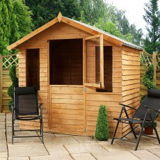7 x 5 (2.3m x 1.7m) Mercia Overlap Summerhouse with Stable Door