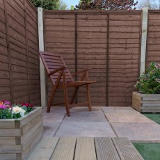 6ft High (1829mm) Mercia Waney Edge (Lap) Fence Panels - Pressure Treated