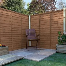5ft High (1524mm) Mercia Waney Edge (Lap) Fence Panels - Pressure Treated