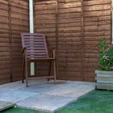 Waney Edge (Lap) Fencing - Pressure Treated