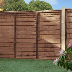 Waney Edge Lap Fencing Pack - Pressure Treated