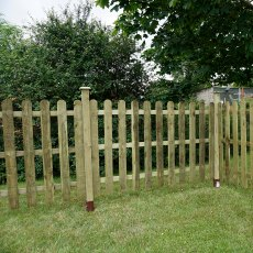 3ft High (915mm) Mercia Palisade Round Top Fence Panels - Pressure Treated
