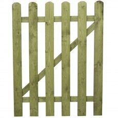 3ft High (915mm) Mercia Round Top Palisade Gate - Pressure Treated