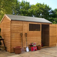 10 x 6 (3.14m x 1.88m) Mercia Overlap Reverse Shed