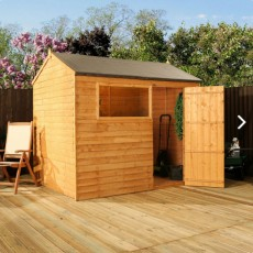 6 x 8 (1.79m x 2.43m) Mercia Shiplap Reverse Apex Shed with Single Door