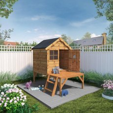 5 x 6 (1.6m x 1.9m) Mercia Snug Playhouse with Tower