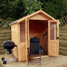7 x 5 (2.30m x 1.70m) Mercia Overlap Summerhouse with Double Doors