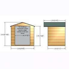 Shire Avance Summerhouse - Dimensions