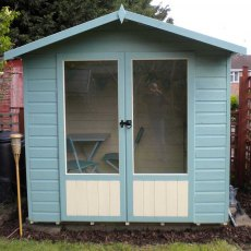 Shire Avance Summerhouse - Customer image painted in blue