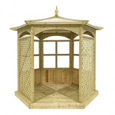 Grange Grange Budleigh Gazebo with Side Panels (Dressed A)