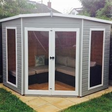 Shire 8 x 8  (2.25m x 2.25m) Shire Barclay Corner Summerhouse