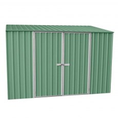 10 x 5 (3.00m x 1.52m) Mercia Absco Space Saver Metal Shed in Pale Eucalyptus