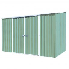 10 x 5 Mercia Abcso Space Saver Pent Metal Shed in Pale Eucalyptus