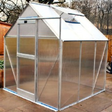 6'3' (1.90m) Wide Elite iGro Polycarbonate Greenhouse PACKAGE Range (Silver)