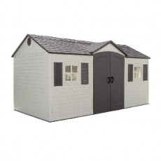15 x 8 (4.47m x 2.34m) Lifetime Plastic Shed (with Single Entry)