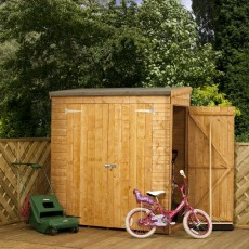6 x 3 (1.81m x 0.79m) Mercia Shiplap Pent Store with Side Door