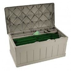 Suncast Plastic Large Garden Storage Box with Seat